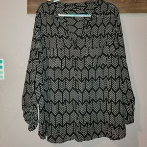 Maurices plus size 4 long sleeve blouse